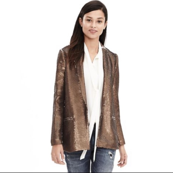 Banana Republic Jackets & Blazers - Banana Republic Monogram Sequin Blazer Jacket New